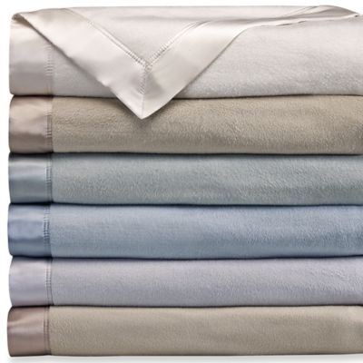 Wamsutta® Collection Silk Twin Blanket with Charmeuse-Silk Border in Grey