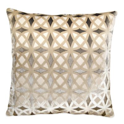 Kraus Throw Pillow in Platinum
