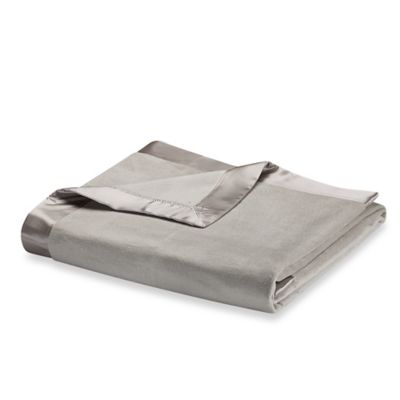 Wamsutta® Collection Silk Twin Blanket with Charmeuse-Silk Border in Taupe
