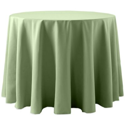 Spun Polyester 90 Inch Round Tablecloth In Sage