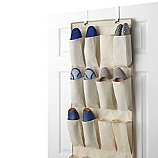 Real Simple® 24-Pocket Over Door Shoe Organizer