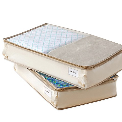 Real Simple 174 Garment Storage Underbed Bags Set Of 2