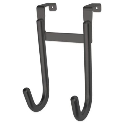 Home Basics Double Hook in Black Onyx