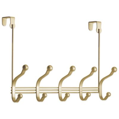 York Lyra Over-the-Door Rack in Pearl Gold