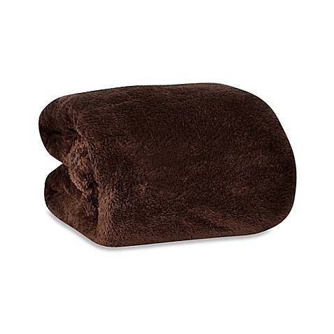 Buy Berkshire Blanket 174 Fluffie Throw In Chocolate From Bed