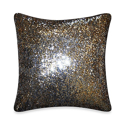Throw Pillows With Sparkle : Sparkle Throw Pillow in Silver - Bed Bath & Beyond