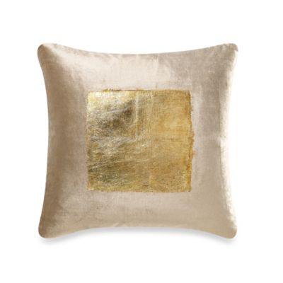 Velvet Throw Pillow in Gold