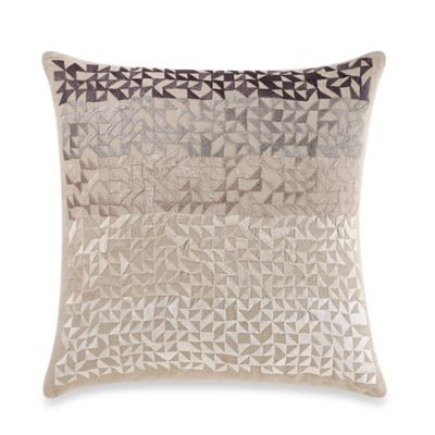 Linen Ombré Square Throw Pillow