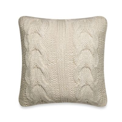 Scallop Sweater Throw Pillow in Cream