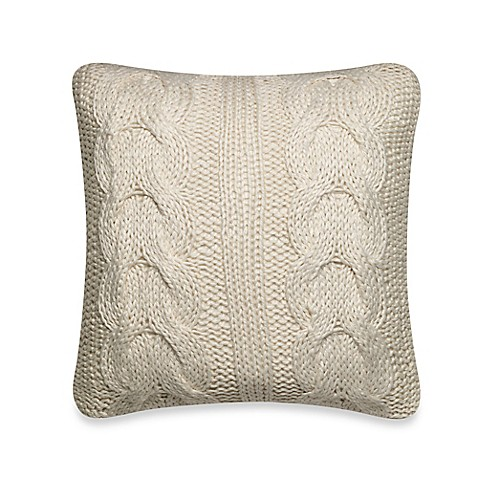 Scallop Sweater Throw Pillow in Cream - Bed Bath & Beyond