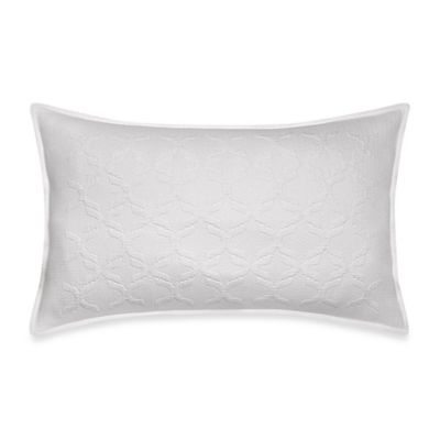Frette At Home Marano Coverlet Standard Pillow Sham in White