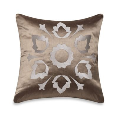 Frette at Home Marano Pure Silk Cushion Cover in Stone