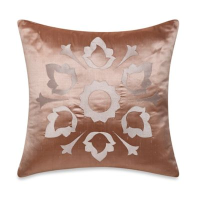 Frette At Home Marano Pure Silk Square Throw Pillow in Blush