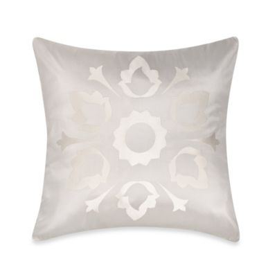 Frette At Home Marano Pure Silk Square Throw Pillow in Off-White