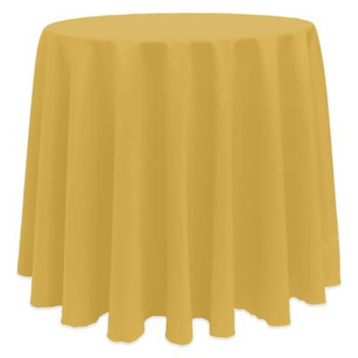 Basic 90-Inch Round Tablecloth in Gold