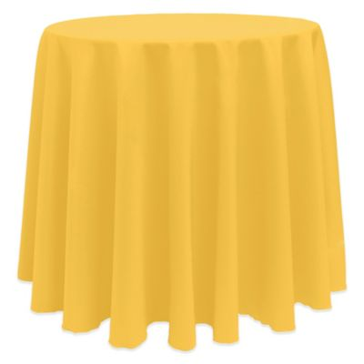 Goldenrod Round Tablecloth