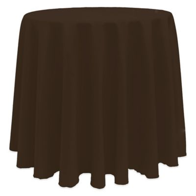 Basic 90-Inch Round Tablecloth in Chocolate