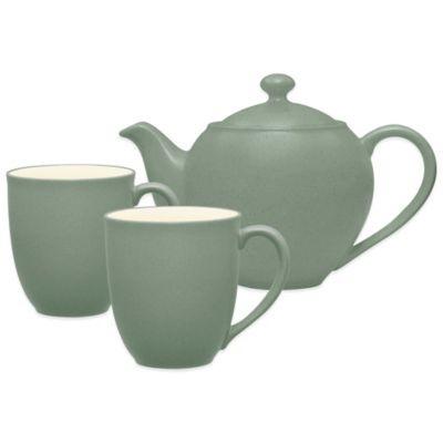 Colorwave 3-Piece Tea-for-2 Set in Green
