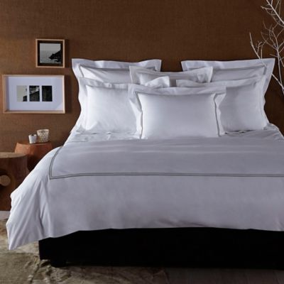 Frette At Home Piave Full/Queen Duvet Cover in White/Grey