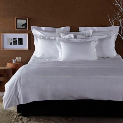 Frette At Home Piave Queen Duvet Cover in White