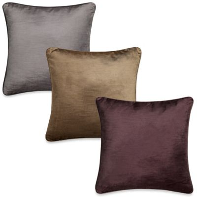 Grace Square Throw Pillow in Alabaster/Ecru