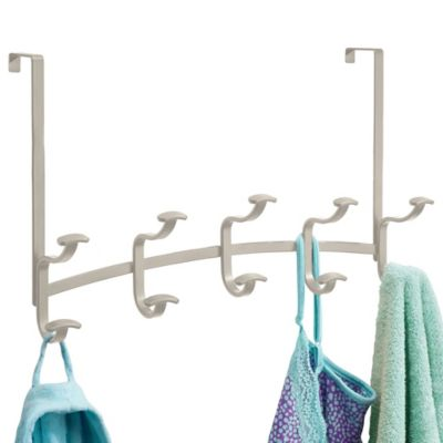 Spa Over-the-Door Rack 5 in Satin
