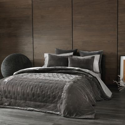 The Tallulah Collection by Kevin O'Brien Cirrus King Coverlet in Pewter