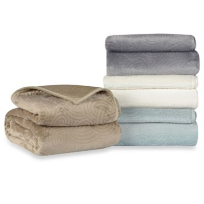 Berkshire Blanket® LoftMink™ Reversible Twin Blanket in Spa Blue