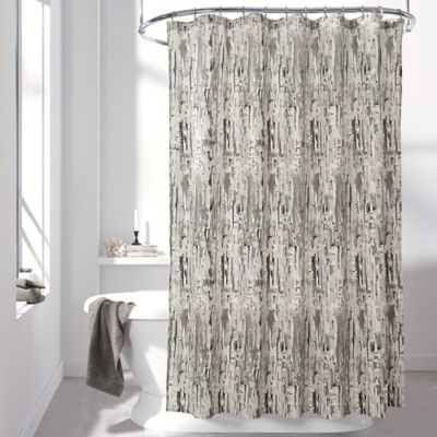 DKNY Limestone Shower Curtain in Charcoal