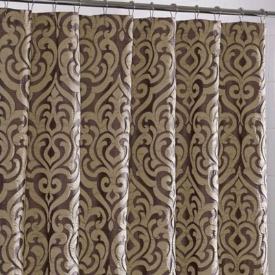 Gold Polyester Shower Curtain