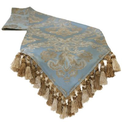 Sherry Kline Elizabeth 13-Inch x 72-Inch Table Runner in Spa Blue