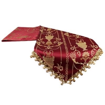 Red Linen Table Runners