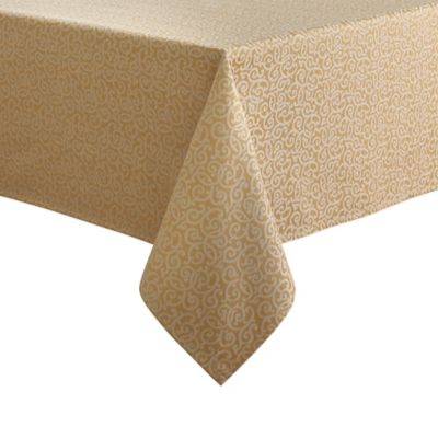 Waterford® Linens Channing 70-Inch x 126-Inch Tablecloth in Gold