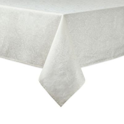 Waterford® Linens Chelsea 70-Inch x 84-Inch Oblong Tablecloth in Cream