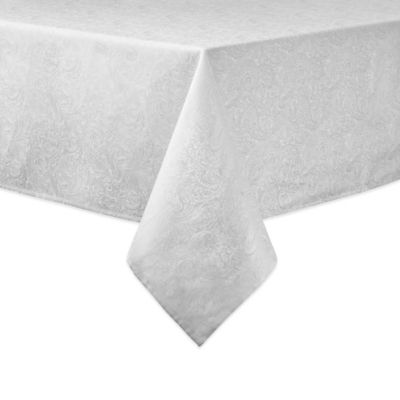 Waterford® Linens Chelsea 70-Inch x 84-Inch Oblong Tablecloth in Pearl