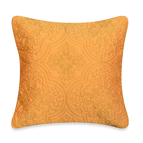 Orange Throw Pillows For Bed : Clover Medallion Square Throw Pillow in Orange - Bed Bath & Beyond