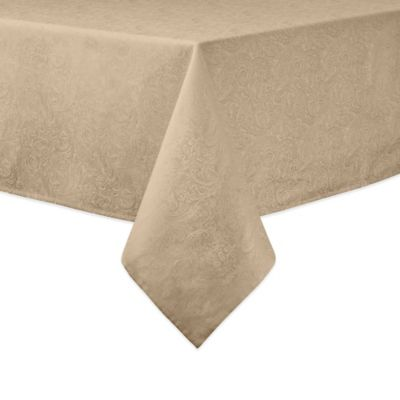 Waterford® Linens Chelsea 70-Inch x 84-Inch Oblong Tablecloth in Gold