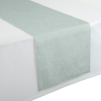Waterford® Linens Chelsea 16-Inch x 90-Inch Table Runner in Aqua