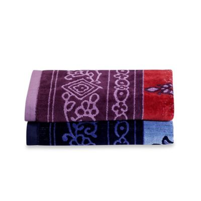 Tracy Porter® Poetic Wanderlust® Grace Bath Towel in Purple/Red
