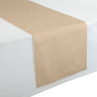 Waterford® Linens Chelsea 16-Inch x 90-Inch Table Runner in Cream