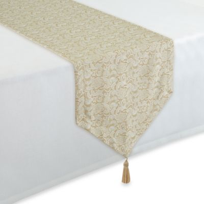 Waterford® Linens Lucida 90-Inch Table Runner in Gold