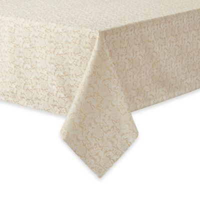 Waterford® Linens Lucida 70-Inch x 84-Inch Oblong Tablecloth in Gold
