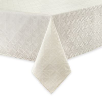 Waterford® Linens Stella 70-Inch x 84-Inch Oblong Tablecloth in Cream