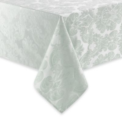 Waterford® Linens Whitmore 90-Inch Round Tablecloth in Silver Sage