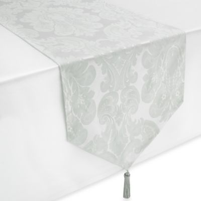 Waterford® Whitmore 16-Inch x 90-Inch Table Runner in Silver Sage