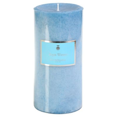 Illuminaria 4-Inch x 8-Inch Pillar Candle in Aqua Waters