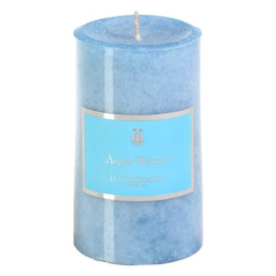 Illuminaria 3-Inch x 5-Inch Pillar Candle in Aqua Waters