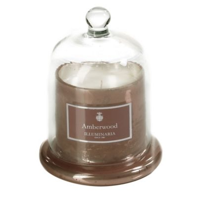 Illuminaria Dome Candle Jar in Amberwood
