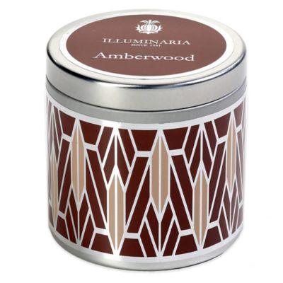 Illuminaria Tin Candle in Amberwood