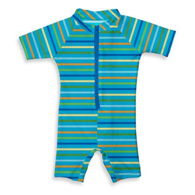 i play.® Size 18M Sunsuit in Aqua Multistripe
